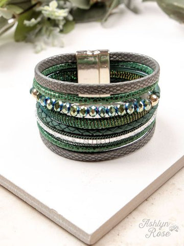 Green Every Which Way Magnetic Bracelet
