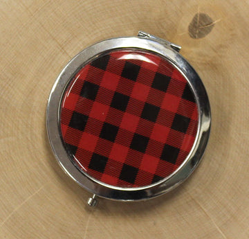 Buffalo Plaid Compact Mirror