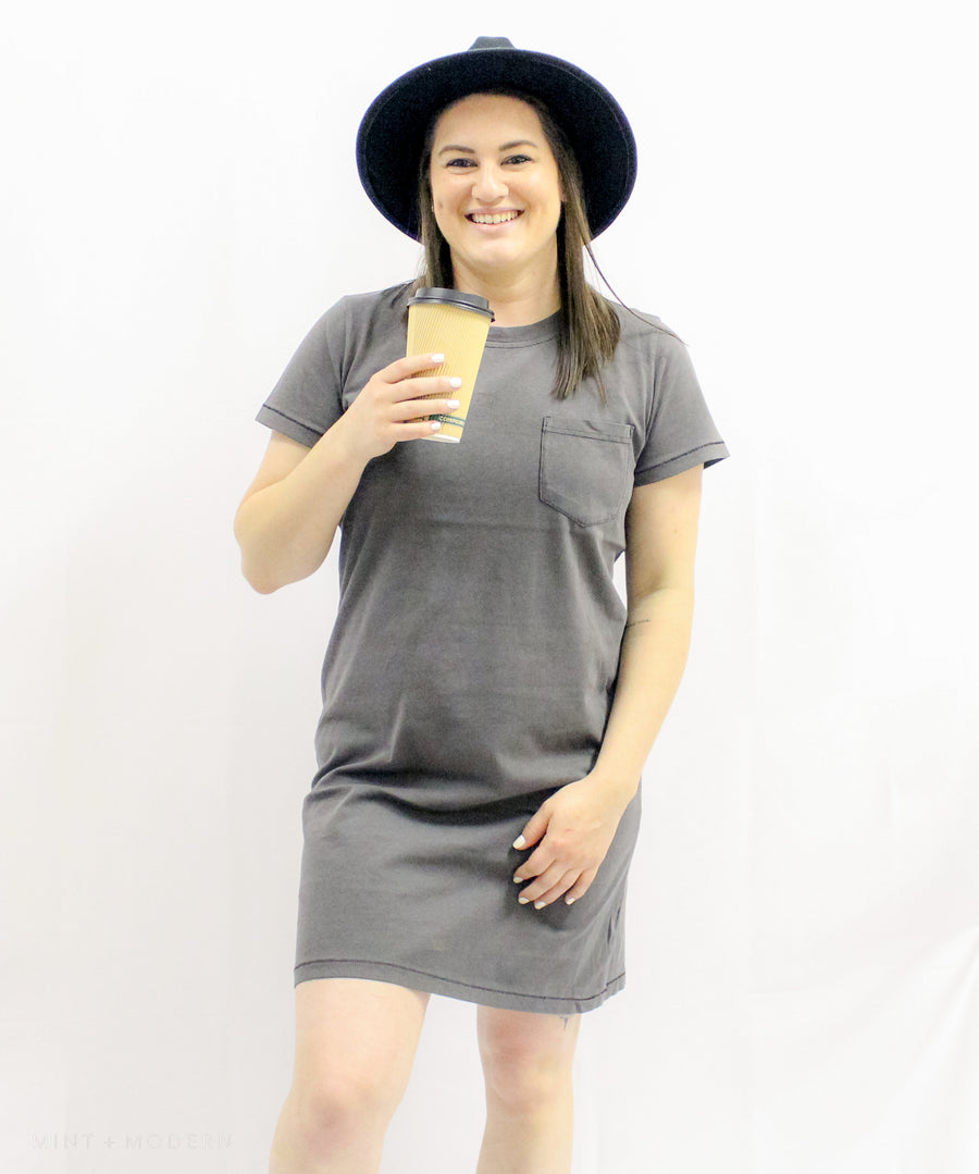 Thunder Gray Kick Back T-Shirt Dress