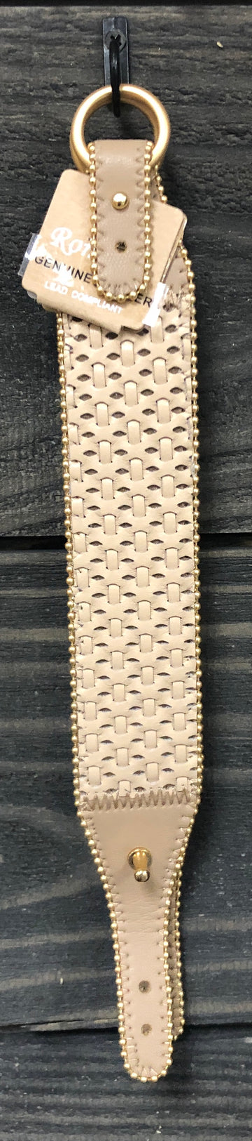 Natural Leather Woven Bracelet with Buckle Clasp