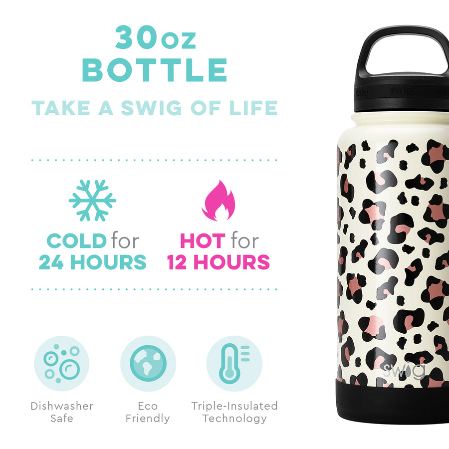 Authentic Swig™ Luxy Leopard 30oz Bottle