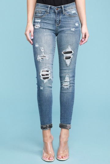 Judy Blue Jeans Plus Size Camo Patch Skinny