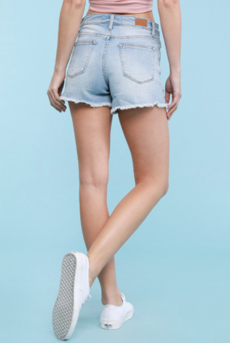 Judy Blue Jeans Plus Size Gingham Pocket Shorts