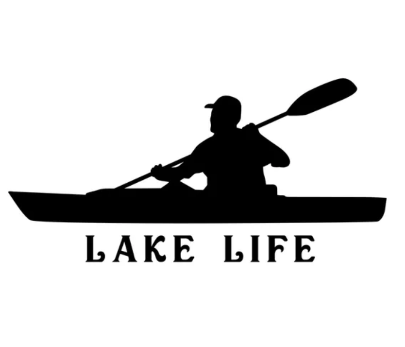 BAFC Lake Life Man Decal