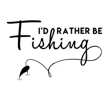 BAFC I'd Rather Be Fishing Decal