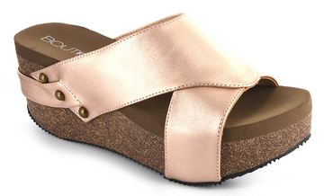 Rose Gold Corkys Winnie Wedges