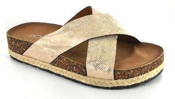 Gold Corkys Footwear Dolphin Slides