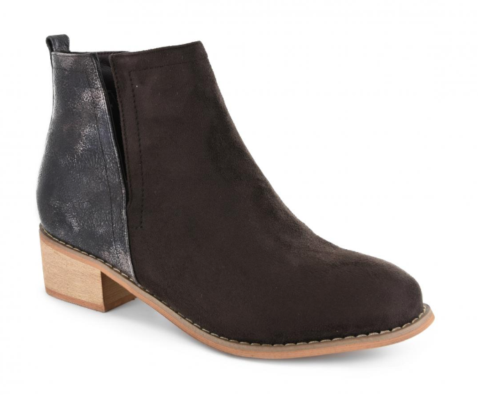 Brown Corkys Footwear Shield Faux Suede Bootie