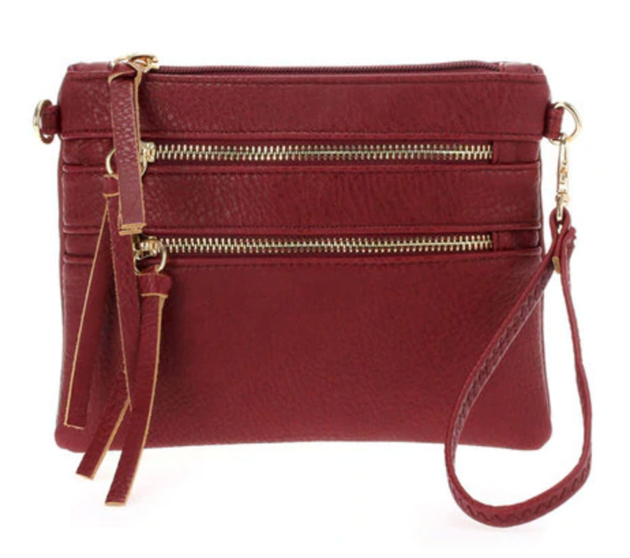 Two in One Handbag - Wristlet or Crossbody in 6 Colors