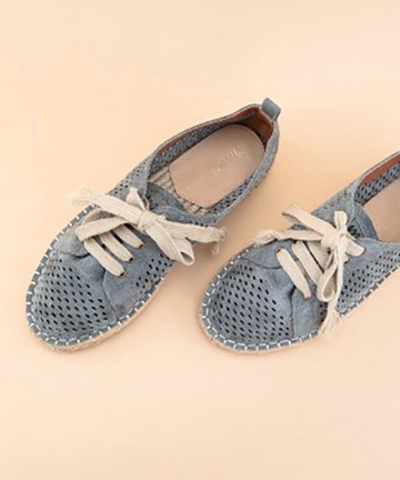 Blue Grey Espadrille Sneakers