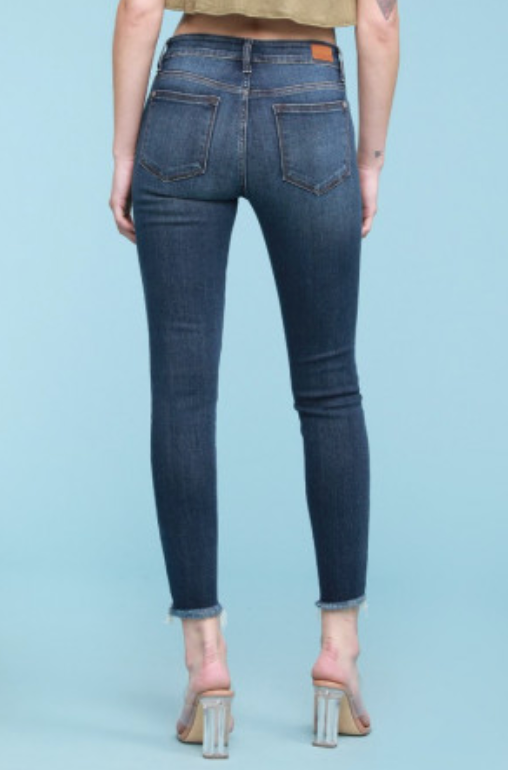 Judy Blue Jeans Destroyed Hem Cut-Off Skinny