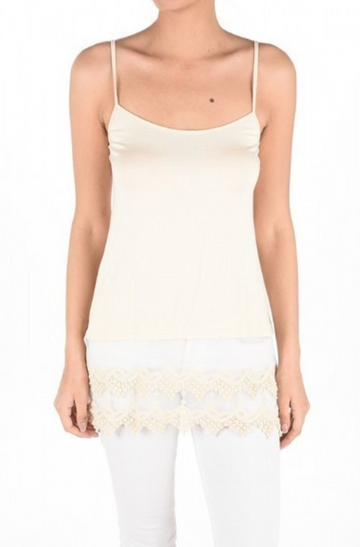 Ivory Layering Lace Cami