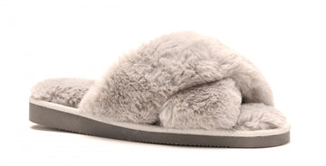 Grey Corkys Footwear Slumber Faux Fur Slippers