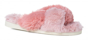 Light Pink Corkys Footwear Snuggle Faux Fur Slippers