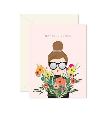 Thanks A Bunch Girl Greeting Card