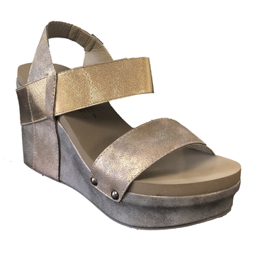 Bronze Corkys Footwear Agnus Wedges
