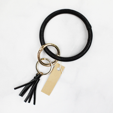 Black Bangle Key Ring