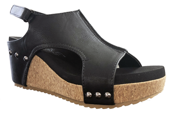 Black Corkys Footwear Carley Wedge