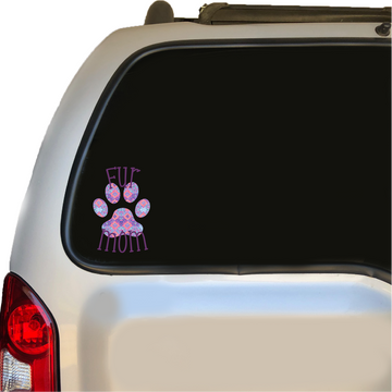 Fur Mom Decal with Floral Lily Inspired Print 4