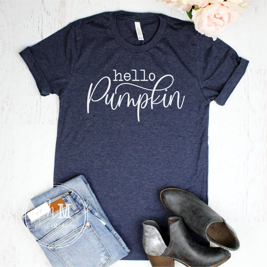 Hello Pumpkin Fall Shirt