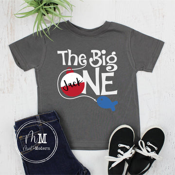 The Big One Birthday Shirt - Toddler Fishing Birthday Shirt