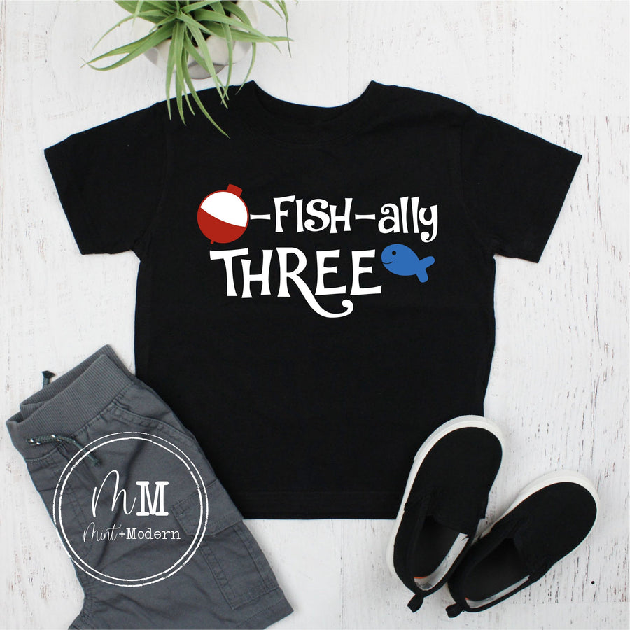 O-Fish-ally Three Toddler Birthday Shirt - Third Birthday Shirt