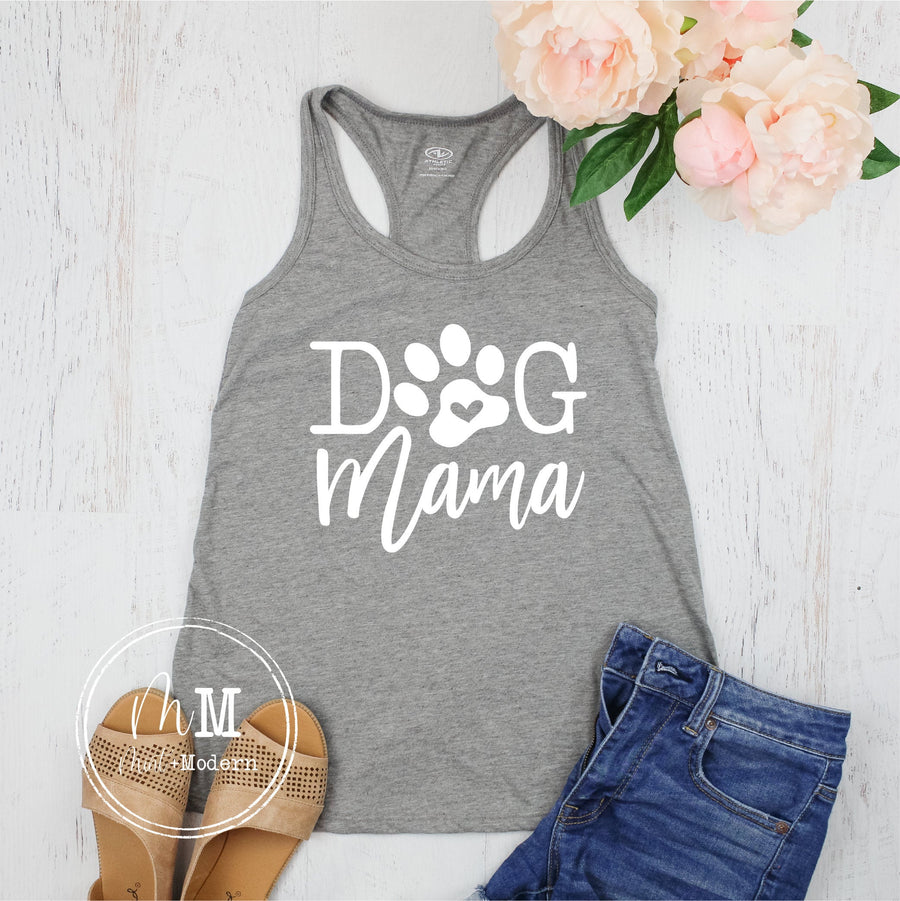 Dog Mama Tank Top - Dog Mama Shirt - Animal Lover Shirt