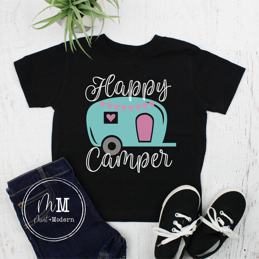Toddler Camping Shirt - Happy Camper Shirt - Youth Camping Shirt