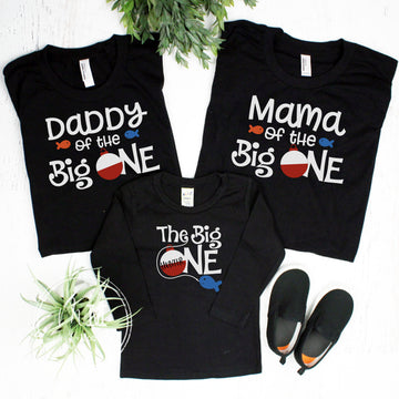 The Big One Birthday Shirt Family Set - Long Sleeve Option - Cold Weather