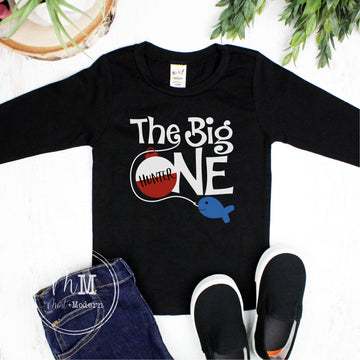 The Big One Birthday Shirt - Toddler Fishing Birthday Shirt - Long Sleeve