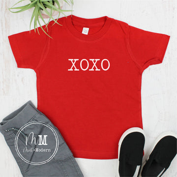Hugs and Kisses XOXO Valentine's Day Shirt - Toddler Valentine's Day Shirt