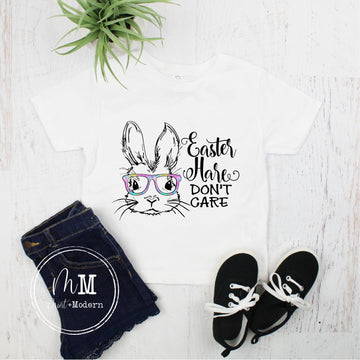 Easter Hare Don't Care Toddler Shirt