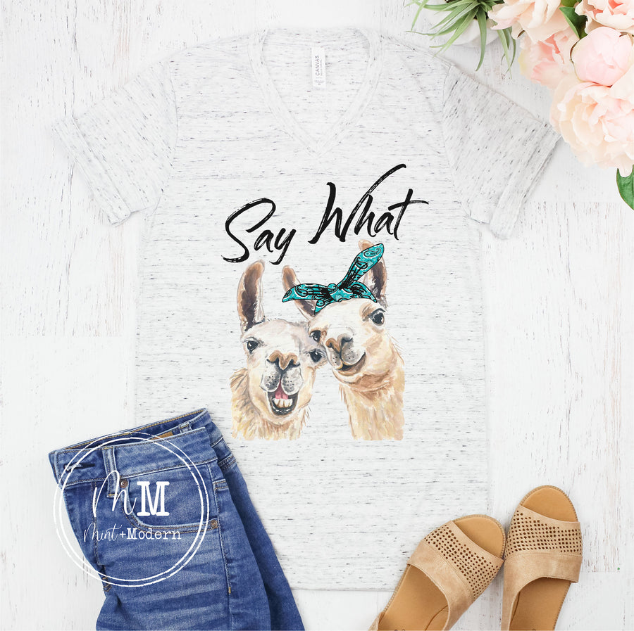Say What Llama Shirt - Llama Shirt - Full Color Shirt