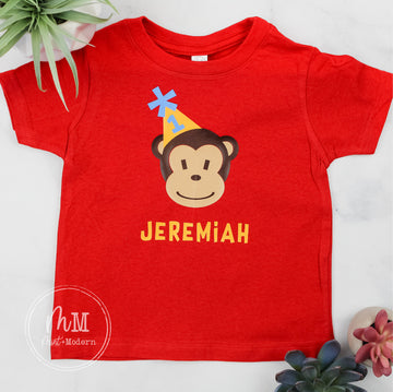 Toddler Monkey Birthday Shirt - Monkey Party Shirt