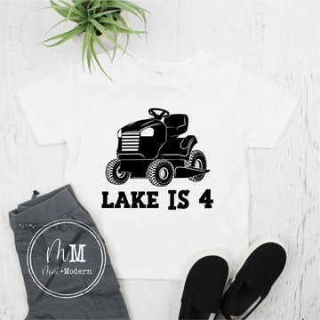 Lawnmower Birthday Shirt - Tractor Party Shirt