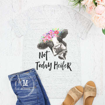 Not Today Heifer Cow Shirt - Cow Shirt - Full Color Shirt