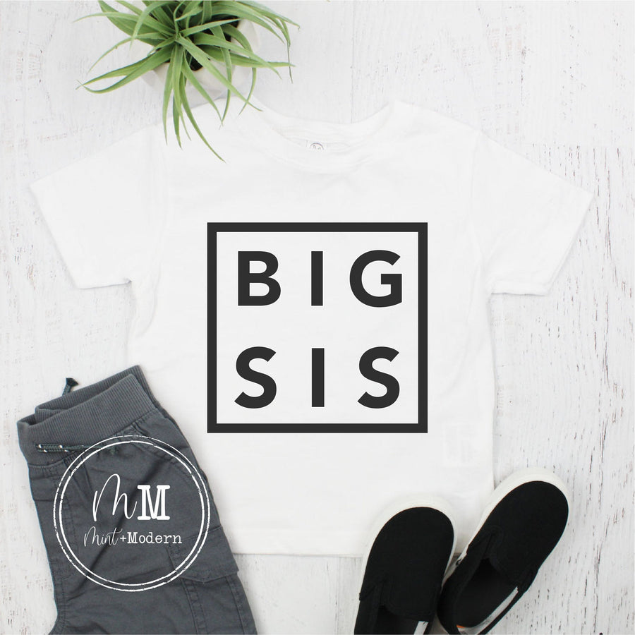 Big Sister Shirt - Birth Announcement Shirt - Big Sis