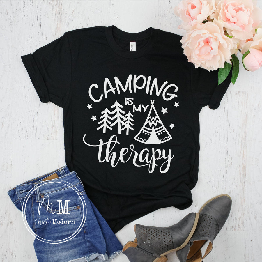 Camping Is My Therapy Shirt - Camping Tee