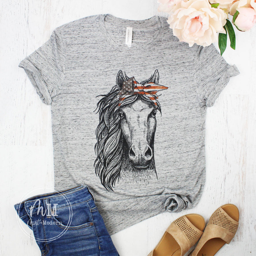 Horse Shirt - American Horse Tee - Full Color Shirt