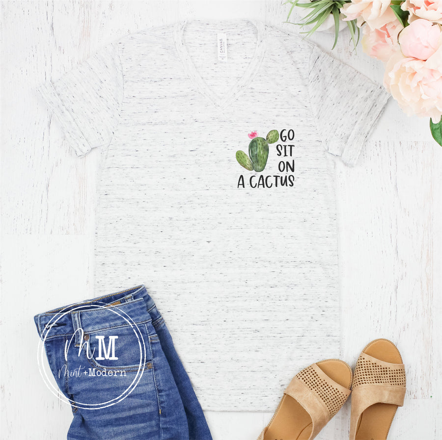 Go Sit On a Cactus Short Sleeve Shirt - Full Color Shirt