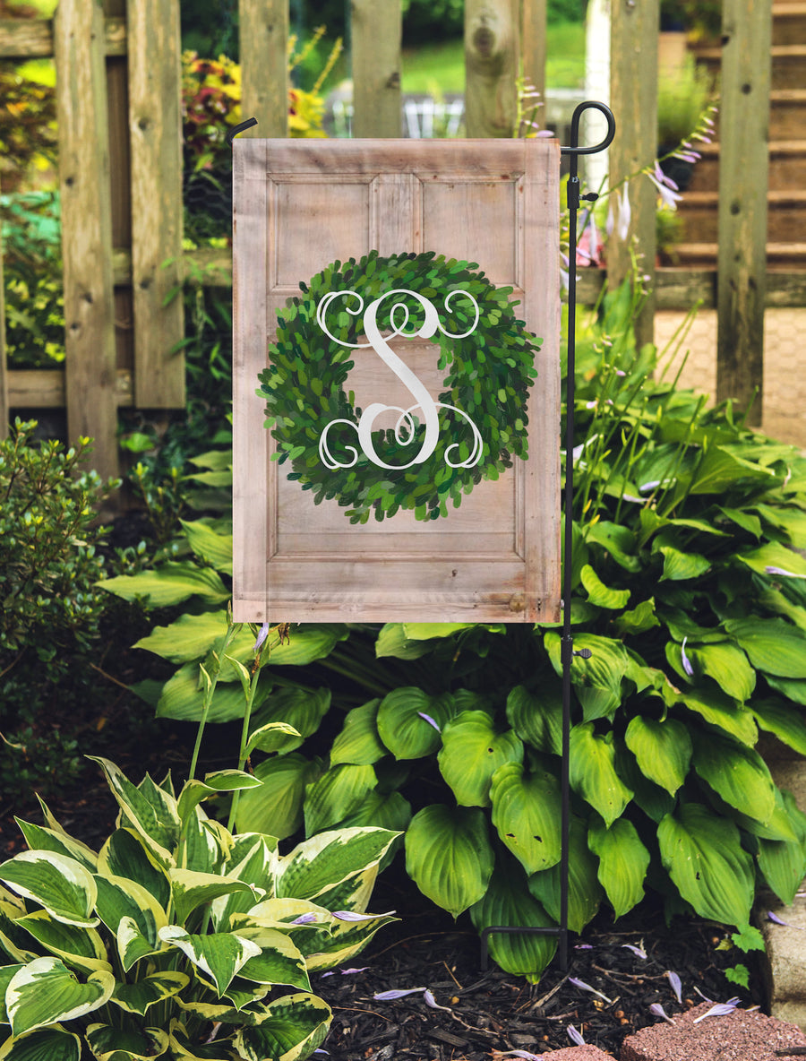 Farmhouse Monogram Garden Flag 11x17 - Flag Only