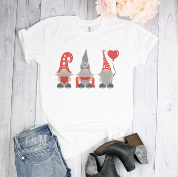 Valentine's Gnome Trio Short Sleeve Shirt - Full Color Shirt