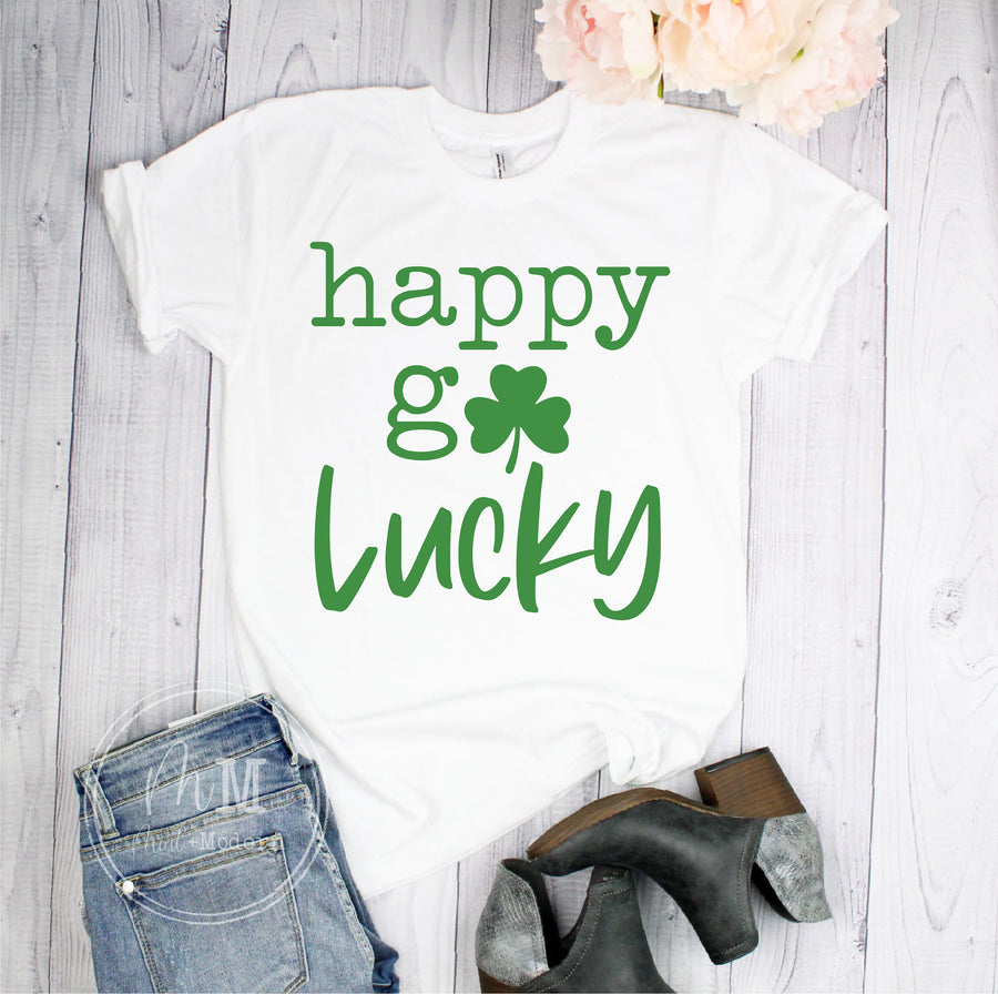 Happy Go Lucky St Patricks Day Shirt - Unisex Soft Shirt