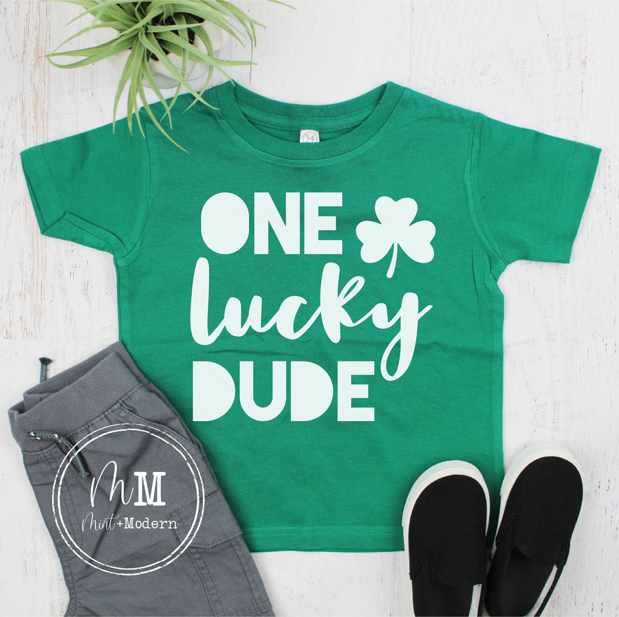 One Lucky Dude Youth Shirt - St Patrick's Day Toddler Shirt
