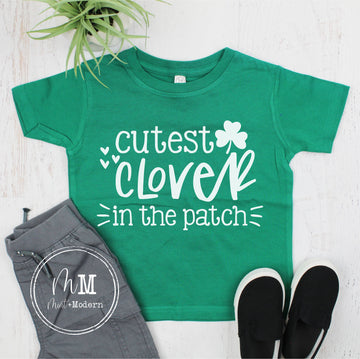 Cutest Clover in the Patch Youth Shirt - St Patrick's Day Toddler Shirt