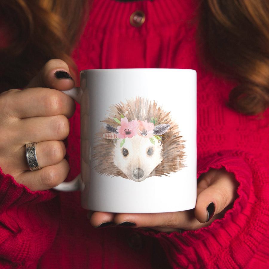 Hedgehog Ceramic Coffee Mug 11oz
