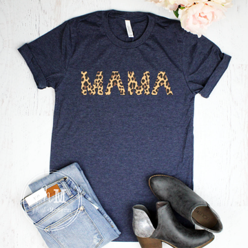 Leopard Print Mama Graphic Tee