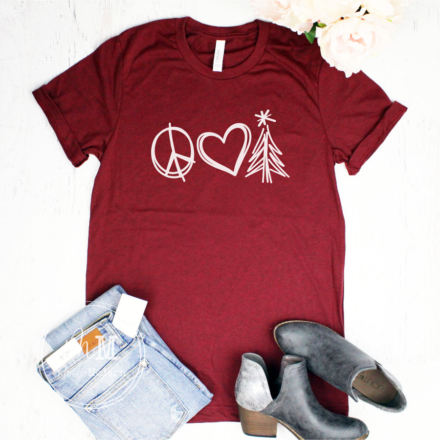 Peace Love and Christmas Trees Shirt