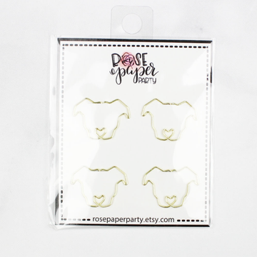 Gold Pitbull Paper Clips Set of 4