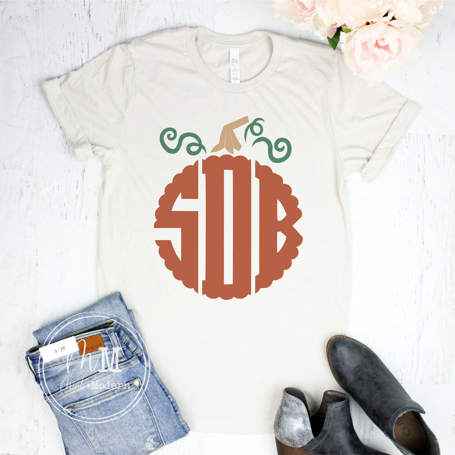 Pumpkin Monogram Shirt